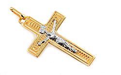 Zlatý prívesok kríž s umučením IZ4616