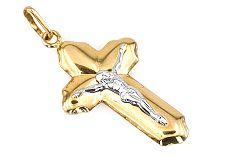 Zlatý prívesok krížik s Ježišom IZ512