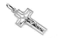 Zlatý prívesok krížik s Ježišom IZ7604