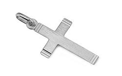 Zlatý prívesok krížik s matovaním IZ8467A