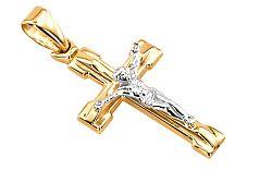 Zlatý prívesok krížik s umučením IZ4538