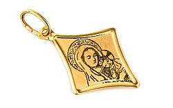Zlatý prívesok Madonky na platničke IZ2704