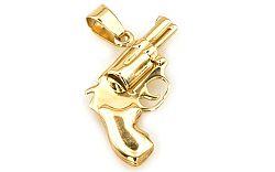 Zlatý prívesok Revolver/pištoľ IZ3027