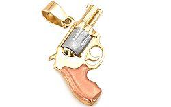 Zlatý prívesok Revolver/pištoľ IZ3030