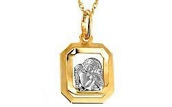 Zlatý prívesok s anjelikom IZ6272