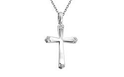Zlatý prívesok s briliantmi kríž IZBR176A