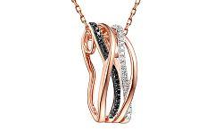 Zlatý prívesok s čiernymi diamantmi 0,130 ct IZBR094R