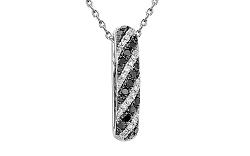 Zlatý prívesok s čiernymi diamantmi 0,220 ct IZBR097A