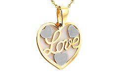 Zlatý prívesok s nápisom Love IZ8290