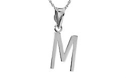 Zlatý prívesok s písmenkom M white IZ6441A