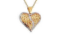 Zlatý prívesok srdce IZ8920