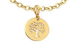 Zlatý prívesok strom života s karabínkou IZ11534P
