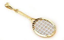 Zlatý prívesok tenisová raketa Tennis racquets KOPE304