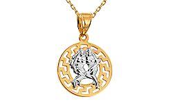 Zlatý prívesok znamenie Blíženci kombinovaný IZ10465