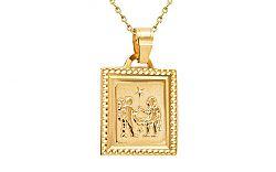 Zlatý prívesok znamenie Blíženec IZ7403