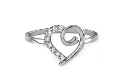 Zlatý prsteň Fine heart 1 white IZ7909A