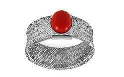 Zlatý prsteň Flexi Red biele zlato IZ9983