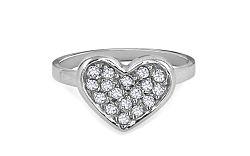 Zlatý prsteň Heart so zirkónmi Sabra KORI248