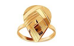 Zlatý prsteň kvapka s gravírom IZ9588