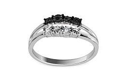 Zlatý prsteň s 0,020 ct čiernými briliantmi Prima Vera 2 K9U05