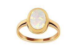 Zlatý prsteň s bielym opálom IZ11030