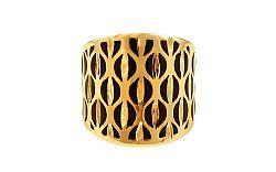 Zlatý prsteň s čiernym emailom IZ9954
