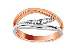 Zlatý prsteň s diamantmi 0.030 ct Farina DB0059