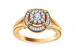 Zlatý prsteň s diamantmi Amaya KU443