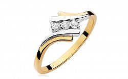 Zlatý prsteň s diamantmi Clementine BSBR042