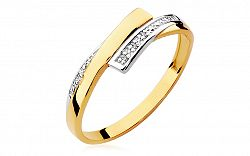 Zlatý prsteň s diamantmi Elisée BSBR041