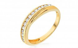 Zlatý prsteň s diamantmi IZBR222