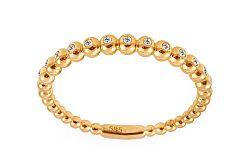 Zlatý prsteň s diamantmi IZBR233