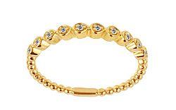 Zlatý prsteň s diamantmi IZBR234