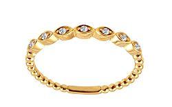 Zlatý prsteň s diamantmi IZBR237