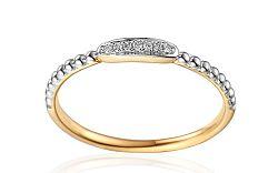 Zlatý prsteň s diamantmi IZBR238