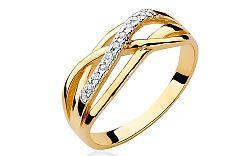 Zlatý prsteň s diamantmi Lucine BSBR038