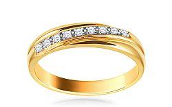 Zlatý prsteň s diamantmi Tamiris ARBR37