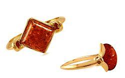 Zlatý prsteň s jantárom Amber IZ9187