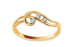 Zlatý prsteň s kamienkami IZ6092