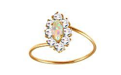 Zlatý prsteň s opálom IZ9524