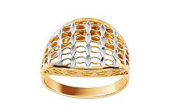 Zlatý prsteň s ozdobným výpletom IZ11398