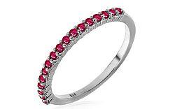 Zlatý prsteň s rubínmi Micha white IZBR227AR