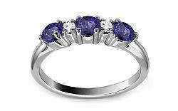 Zlatý prsteň so zafírmi a diamantmi Noyale ARBR40AZ