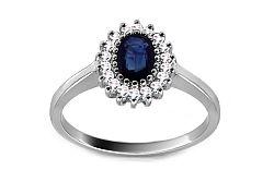 Zlatý prsteň so zafírom a diamantmi Layana ARBR41AZ