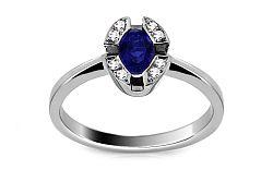 Zlatý prsteň so zafírom a diamantmi Maurea ARBR33AZ