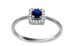 Zlatý prsteň so zafírom a diamantmi Paulette CSBRI010ZA