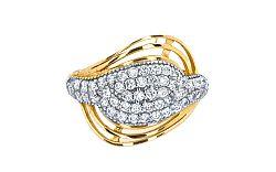 Zlatý prsteň so zirkónmi 2 KORI156