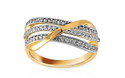 Zlatý prsteň so zirkónmi Chrysel IZ8895