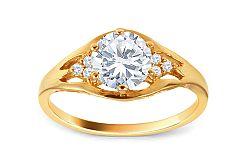 Zlatý prsteň so zirkónmi CSRI1484