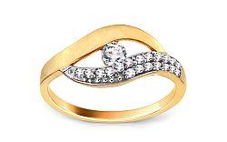 Zlatý prsteň so zirkónmi CSRI3014